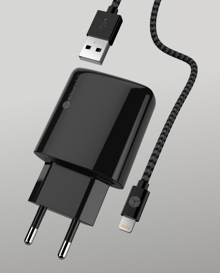 Travel Charger Dual USB With MFi Lighning Cable
