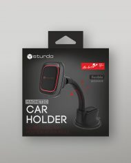 Magnetic Car Holder STURDO Pro Sport Black with Nano Cup – box