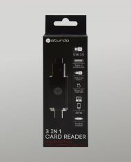 3 in 1 card reader – box